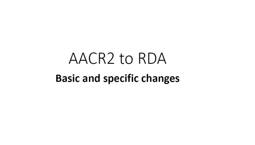 AACR2 to RDA
