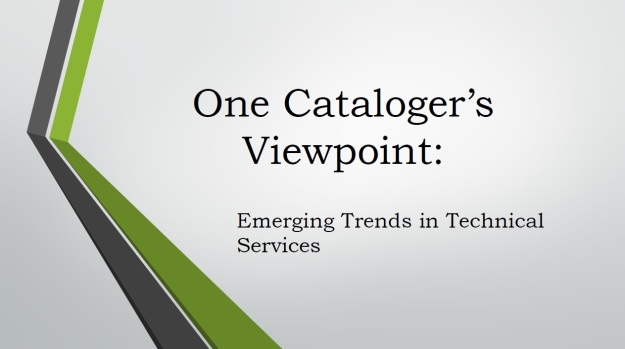 catalogers viewpoint